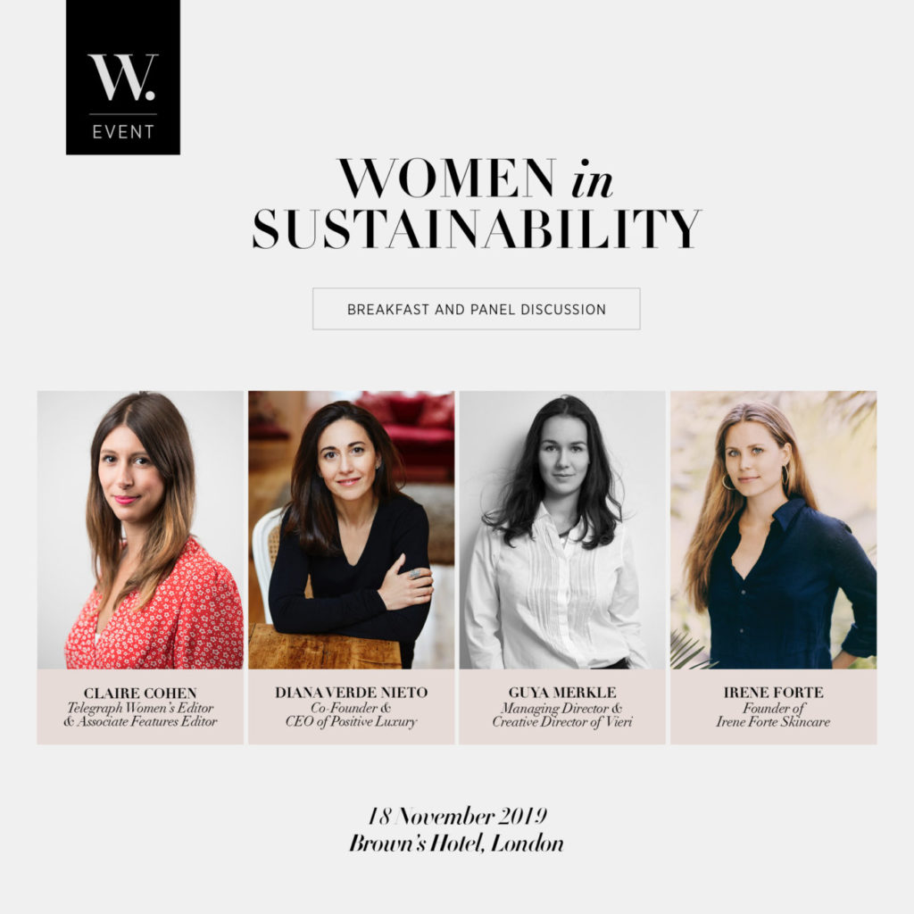 Women in Sustainability, in association with Brown's Hotel and Telegraph Women